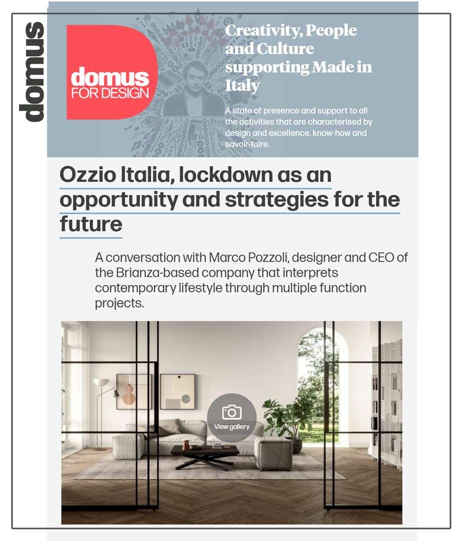 DOMUS for DESIGN – OZZIO ITALIA